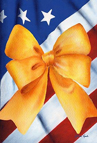 SA Stark 31,8 x 45,7 cm Dekorative Bunte patriotische Unterstützung gelbes Band Gartenflagge ()