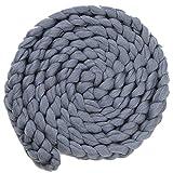 PinzhiNeugeborenen Baby Baumwolle Swaddle Musselin Decke Säugling Schlafen Stricken Wolle Decke (Grau)