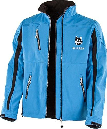 Polar Husky® Softshell-Jacke mit Fleece-Innenfutter Farbe Blau/Schwarz Größe L