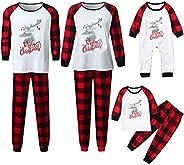 Pijamas Navidad Familia, Pijamas Navideños con Celosía Navideña Conjunto de Pijamas Navideños para Mujeres Hom