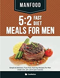 MANFOOD: 5:2 Fast Diet Meals For Men: Simple & Delicious, Fuss Free, Fast Day Recipes For Men Under 200, 300, 400 & 500 Calories by CookNation (2014-11-06)
