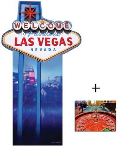 (Vegas Schild Lebensgrosse Pappaufsteller mit 25cm x 20cm foto)