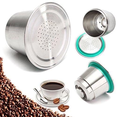 MYAMIA Feine Schleif Kaffee-Kapsel Becher Edelstahl Wiederverwendbar Für Nespresso