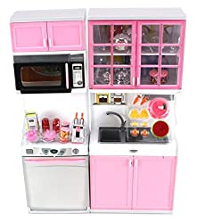 Modern Kitchen 16 Battery Operated Toy Kitchen Playset, Perfect For Use With 11 12