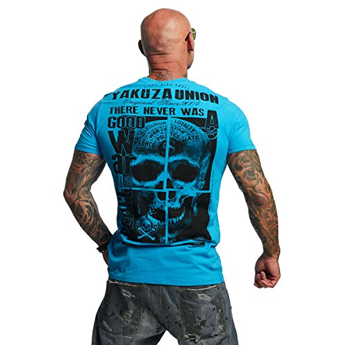 Yakuza Original Herren 893 Union T-Shirt Algiers Blue