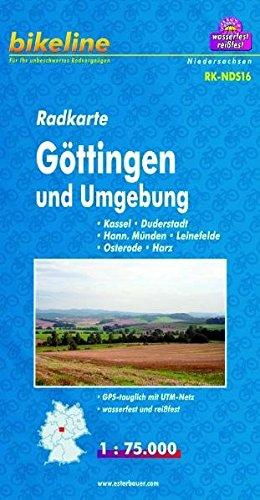 Radkarte Göttingen u. Umgebung 1:75.000, wasserfest und reißfest, GPS-tauglich mit UTM-Netz (Bikeline Radkarte)