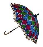 Jaipuri Handmade Embroidered Work Design Beautiful Umbrella 24 X 28 Inches