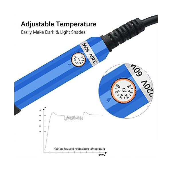 Umitive 37 in 1 Kit Pirograbador de Madera,60W,Temperatura Regulable(250-400℃),