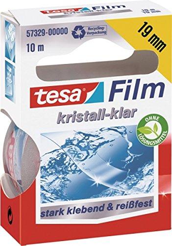 Tape Tesa film crystal clear 10m x 19mm transparant blister