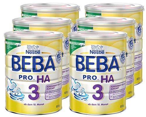3, Folgenahrung ab dem 10. Monat, Baby-Nahrung als Pulver, mit hydrolisiertem Eiweiß, enthält Vitamin A, C & D, 6er Pack (6 x 800g Dose) ()