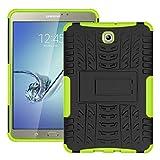 Skytar Galaxy Tab S2 8'' Custodia - Ibrido Armor Cover in TPU Silicone & Duro PC Case Protezione Custodia per Samsung Galaxy Tab S2 8.0 Pollici( SM-T710 T713 T715 T719) Tablet Cover,Verde