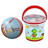2er Set HABA 301984 Ball Feuerwehr-Einsatz + Spiegelburg 10551 Kreide im Eimer Garden Kids
