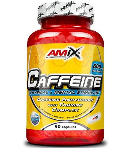 Amix Cafeína y Taurina Energético, Cápsulas, 600 gr