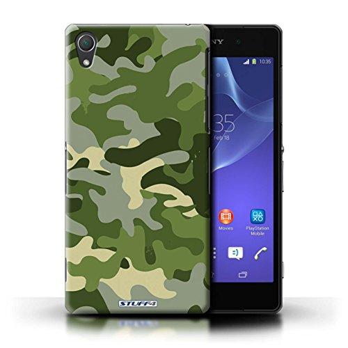 Kobalt® Imprimé Etui / Coque pour Sony Xperia Z2 / Bleue 4 conception / Série Armée/Camouflage Vert 1