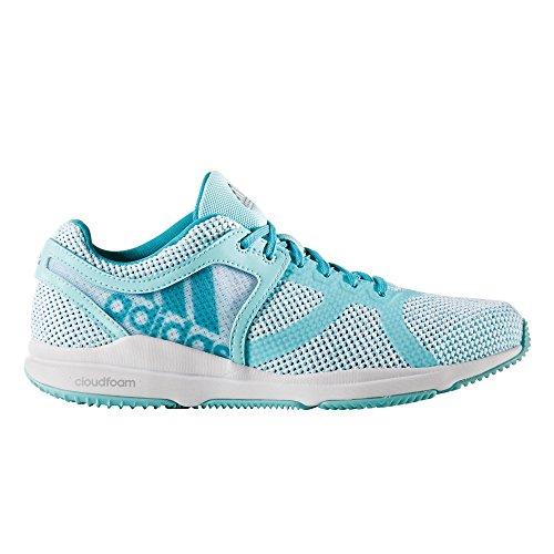 adidas Crazytrain Cf W, Scarpe da Ginnastica Donna Bianco (Ftwbla/Azul/Agucla)