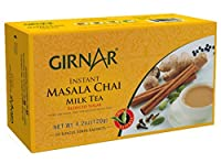 Girnar Instant Chai (Tea) Premix With Masala Unsweetened, 10 Sachet Pack