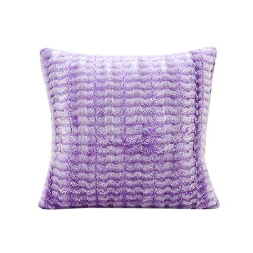 Decorie Simplicity Elegant Plush Throw Cushion Cover for Sofa Home Decor (Purple)