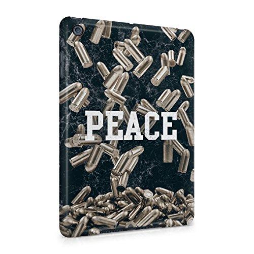 Peace and War Marble & Golden Military Weapon Bullets Pattern Dünne Rückschale aus Hartplastik für iPad Mini 1 Tablet Hülle Schutzhülle Slim Fit Case Cover (Case Bandana Mini Ipad)