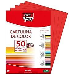 Idea Regalo - Fixo 11110351–Confezione di 50cartoncini, A4, colore: rosso