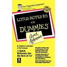 [(Lotus Notes R5 for Dummies Quick Reference )] [Author: Stephen R. Londergan] [May-1999]