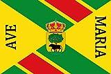 magFlags Bandera Large Municipio de Buitrago del Lozoya Comunidad de Madrid | Bandera Paisaje |...