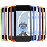iTALKonline Apple iPhone 5C (2013) SoftSkin 10 PACK PURPLE RED LIGHT BLUE GREEN DARK BLUE GREEN YELLOW BLACK WHITE ORANGE PINK Silicone Protective Armour Case Skin Cover Shell with 10 LCD Screen Protectors