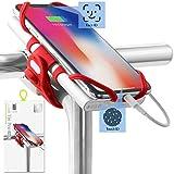 """Bone Collection Porta Cellulare e Power Bank Bici 2-in-1 per Attacco Manubrio - Compatibile Face ID, Supporto Telefoni da 4"""" a 6,5"""" o Carica Batterie Portatili, Ultra Leggero - Bike Tie PRO Pack"""