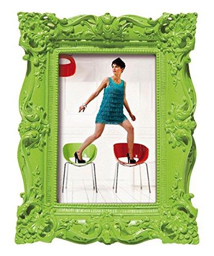 Kare Bilderrahmen Barock Style für Fotos im Format 10 x 15 cm, grün, Retro- Kitsch- Design im...