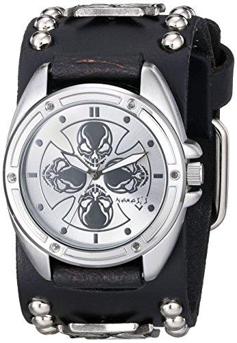 Nemesis 909MICS - Reloj de pulsera hombre, piel, color Negro