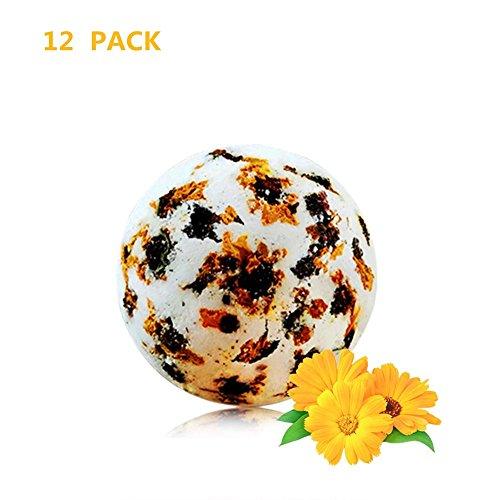 Preisvergleich Produktbild JUKUB 12 Pack Chrysanthemum Bade Bomben Geschenk-Set Bio-und Naturbad Bomben-Kit Perfekt Für Bubble & Spa-Bad Geschenke Für Frauen Mama Mädchen Teenager Kinder, 12 * 70G