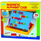 Megcos Magnetic Letters, Numbers, & Board 99 Pieces -Affordable Gift for your Little One! Item #LMID-1076