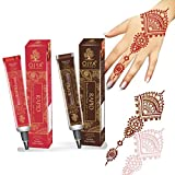 OJYAMulti Color Henna Tubes - Red & Brown Pack of 2