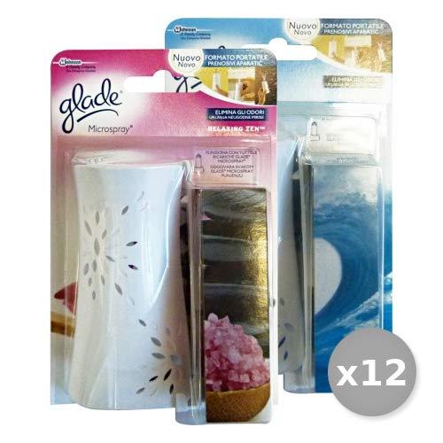 Scheda dettagliata GLADE Set 12 MICROSPRAY Base Bagno New Deodorante Candele e Profumatori, Multicolore, Unica