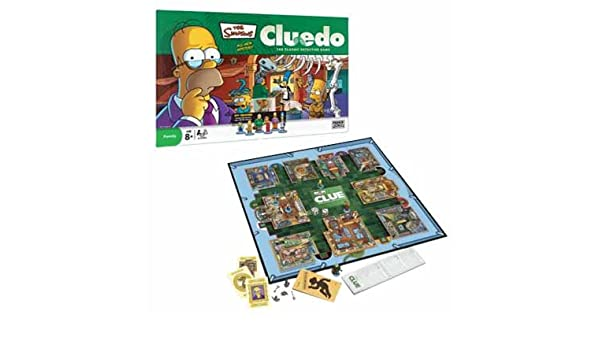 The simpsons cluedo 3rd edition the classic detective game 100.