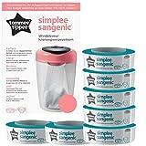 Simplee Sangenic Windeleimer pink inkl. 7 Nachfüllkassetten