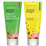 Aroma Magic Neem And Tea Tree Face Wash, 100ml and Aroma Magic Grapefruit Face Wash, 100ml