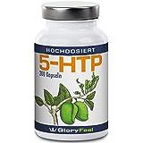 5-HTP 200mg por cápsula – 200 cápsulas concentradas veganas de 5-HTP de 100% Extracto de Griffonia simplicifolia, puede regular el nivel de serotonina – Calidad Premium