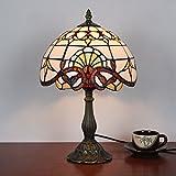 10-Zoll-Barock Tiffany-Stil Tischlampe Nachttisch Lampe Schreibtisch Lampe Wohnzimmer Bar Lampe