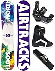 AIRTRACKS SNOWBOARD SET - TABLA NORTH SOUTH WIDE (HOMBRE) 156 - FIJACIONES SAVAGE - BOTAS STRONG QL 43 - SB BOLSA/ NUEVO