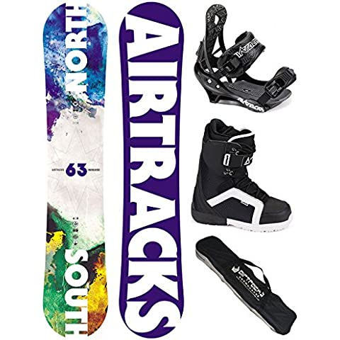 AIRTRACKS SNOWBOARD SET - TABLA NORTH SOUTH WIDE (HOMBRE) 152 - FIJACIONES SAVAGE - BOTAS STRONG 45 - SB BOLSA/