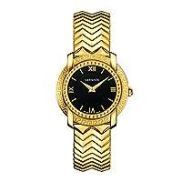 Versace Women's Analog Swiss-Quartz Watch With Stainless-Steel Strap Vam050016, Gold Band