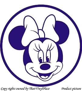 Minnie - 60 cm x 60 cm, couleur bleu saphir Disney Princesse Chambre Enfant Stickers en vinyle voiture, fenêtres et Sticker mural fenêtre Art Decals Sticker vinyle-ThatVinylPlace, Décoration