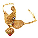 #7: Sukkhi Intricately Crafted Peacock Gold Plated Bajuband For Women