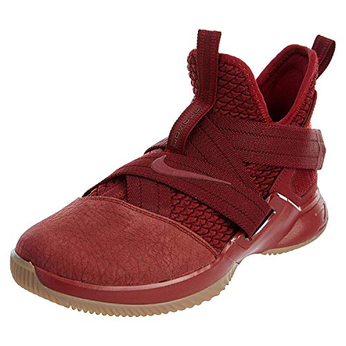 Nike Lebron Soldier XII SFG (GS) Girls Basketball-Shoes AO2910-600_6.5Y - Team RED/Team RED-Gum Light Brown