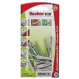 Fischer Universaldübel UX 5 x 30 RSK SB-Karte mit Rand, 10 x Spanplattenschraube 3,5 x 45, 097856