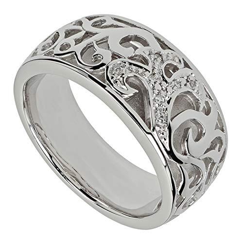 Pfeffinger Damen Ring aus Silber 925 mit Zirkonia im Brillantschliff RW16