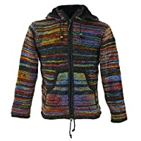 Guru-Shop, Cardigan Cardigan Wool Cardigan Nepal Jacket, Cardigans & Ponchos
