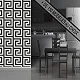 ANTEVIA® PAPIER PEINT INTISSÉ OU VINYLE - 150 MOTIFS AU CHOIX - 3D OU TRADITIONNEL - EFFET MATIERE OU LISSE (Labyrinthe Blanc Noir)