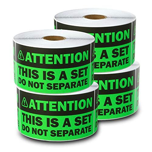 Achtung: Dies ist ein Set, nicht getrennte Etiketten für Warnung, Versand, Versand und Versand (Eltern) 4 Rolls leuchtend grün