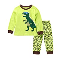 TTlove Boys Pyjamas Dinosaur Nightwear Cotton Toddler Clothes Kids Sleepwear Winter Long Sleeve Christmas Pjs Sets 2 Piece Outfit Xmas Gift,1-7 Years Pys